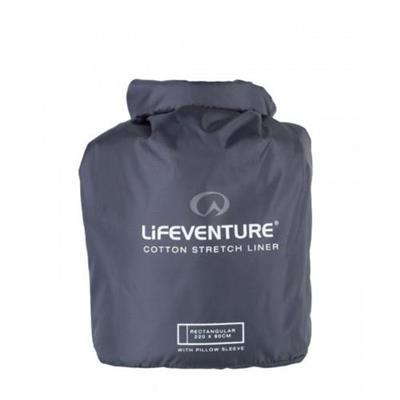 Lifeventure Cotton Stretch Sleeping Bag Liner Recta