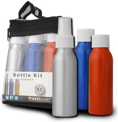 Travel Bottles Alu   3 pcs